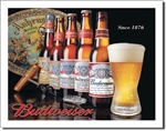 BUD - History of Bud tin signs