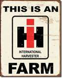 IH Farm tin signs