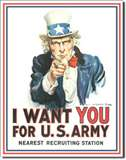 Uncle Sam I Want You tin signs