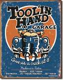 Moore - Toolin' Hand tin signs