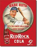 Babe Ruth/Red Rock Kola tin signs