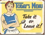 Schonberg - Today's Menu Tin Signs