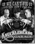 Stooges - Knuckleheads Garage Tin Signs