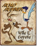 Road Runner & Wyle E CoyoteTin Signs
