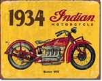 1934 Indian Tin Signs