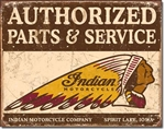 Authorized Indian Parts and ServiceTin Signs