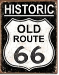 Old route 66 - WeatheredTin Signs
