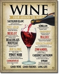 Wine Around The World Tin Signs