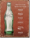 Coke - Script Heritage Tin Signs