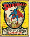 Superman No 1 Cover Tin Signs