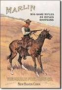 Marlin/ Cowboy on Horse tin signs