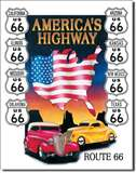 America's Highway tin signs