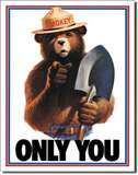 Smokey Bear - Only You tin signs