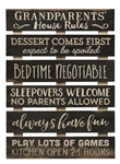 Skid Sign - Grandparents House Rules