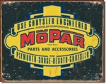 Mopar Logo '37 - '47 tin signs