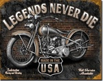 Legends - Never Die Tin Signs