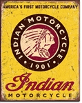 Indian Motorcycles Since 1901Tin Signs