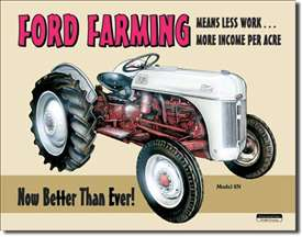 Ford Farming 8N tin signs